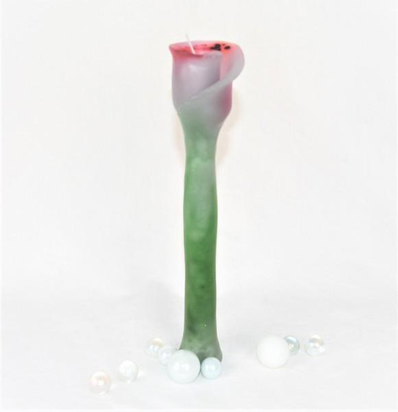 Rosenkerze, Kerzenunikat, Blumenkerze, handgefertigt