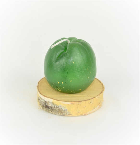 Apfelkerze mit Untersetzer